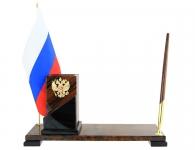 набор на стол руководителя из коричневого камня