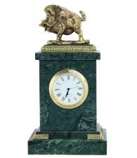 Настольные часы «Кабан» мрамор