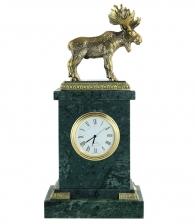 Настольные часы «Лось» мрамор
