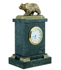 Купить Настольные часы «Медведь» в подарок охотнику на www.dargrad.ru