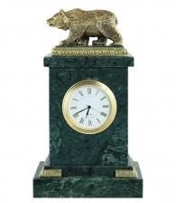 Настольные часы «Медведь» мрамор