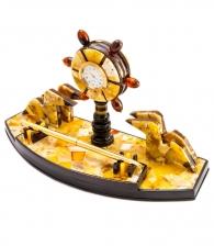 Настольный набор из янтаря «Морской»