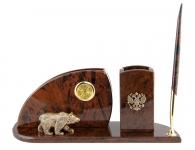 письменный набор из камня с медведем
