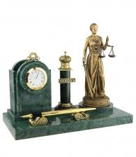 Настольный набор «Закон» (мрамор)