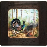 Картина на дереве «Глухари»