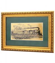 Купить Интерьерное панно «Железная дорога» в подарок железнодорожнику в СПб