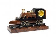 купить Настольные часы «Паровоз» (обсидиан) в магазине подарков Дарград