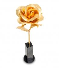 Подарок женщине Золотая роза (в вазочке)