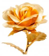 Подарок на 8 марта Золотая роза (в вазочке)
