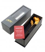 подарок девушке Золотая роза (в вазочке)
