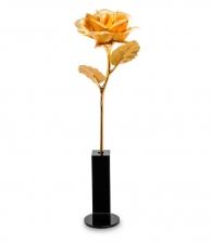 Золотая роза (в вазочке)