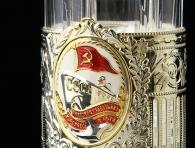 Заказать Подстаканник «Почетному работнику флота» в магазине подарков Дарград Санкт-Петербург