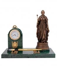 Настольный прибор с часами «Екатерина Великая»