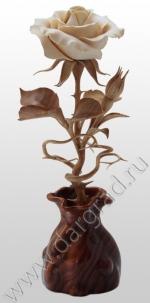 Роза из дерева (Авторская работа)