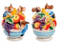 керамическая шкатулка с мышатами
