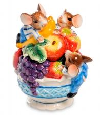 Банка для конфет «Фруктовый рай» с мышатами и фруктами