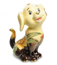 "Купить Фигурка ""Сидячий щенок"" вар. 2 (фарфор) в магазине подарков Дарград"