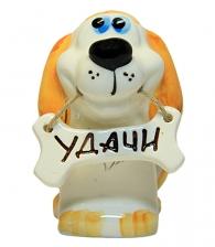 """Собака с пожеланием """"Удачи"""" в магазине подарков в СПб"""