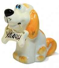 """Купить Собака с пожеланием """"Удачи"""" в подарок коллеге на новый год"""
