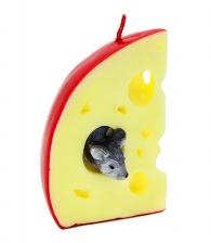 Новогодняя свеча «Мышка в сыре»