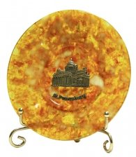 Тарелка из янтаря «Исаакиевский собор»