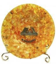 Тарелка из янтаря «Мосты Петербурга»