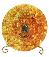 Тарелка из янтаря «Спас на Крови»