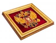 панно янтарь с гербом россии в подарок