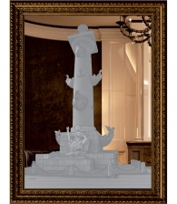 """Зеркальная картина """"Ростральная колонна"""""""