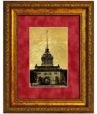 """Картина на золоте """"Адмиралтейство"""""""