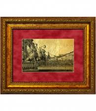 Картина на золоте «Грифоны»