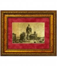 Картина на золоте «Исаакиевский собор»