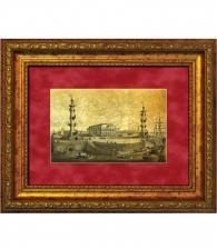 Картина на золоте «Стрелка Васильевского острова»