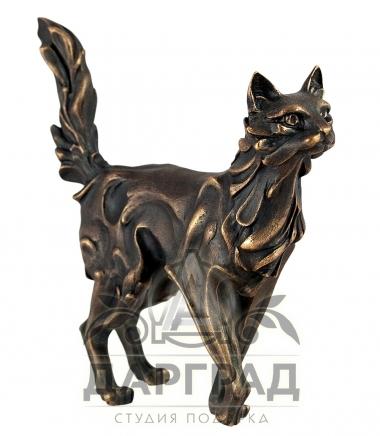 Авторская скульптура Кот из бронзы