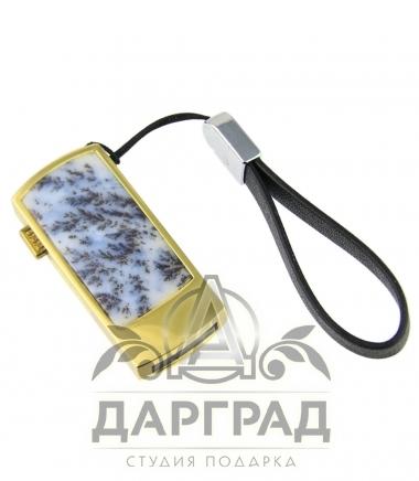 Флешка с накладкой «Моховой агат» (32Гб)