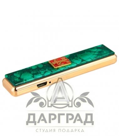 Зажигалка с накладкой из малахита «Петербург»