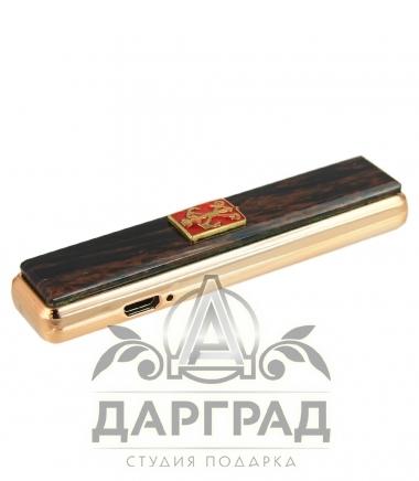 usb Зажигалка с накладкой из обсидиана «Петербург»