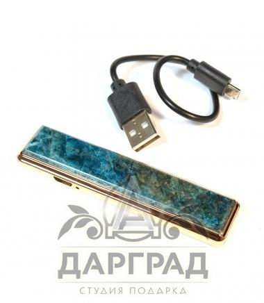 USB Зажигалка с камнем «Апатит»