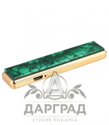 USB Зажигалка с камнем «Малахит»
