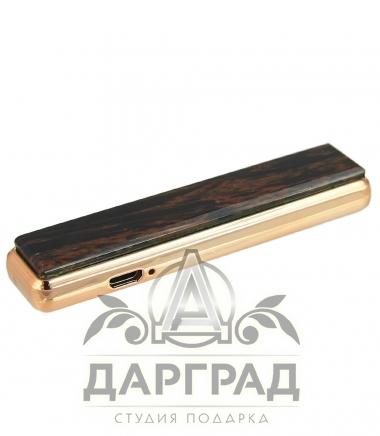 USB Зажигалка с камнем «Обсидиан»