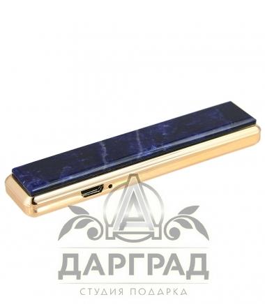 USB Зажигалка с камнем «Содалит»