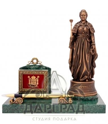 Эксклюзивный подарок Настольная визитница «Екатерина Великая»