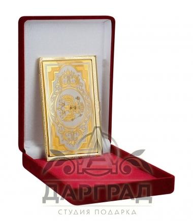 Визитница «Российский герб» Златоуст в подарочной коробке