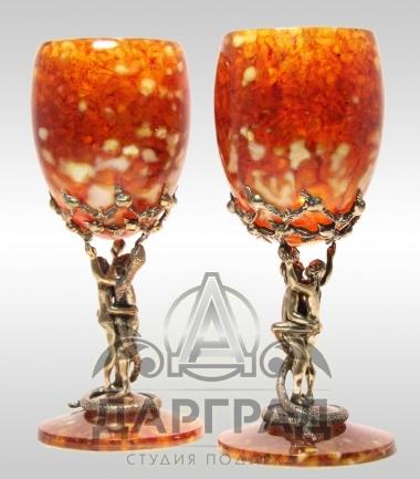 Набор бокалов из янтаря Искушение