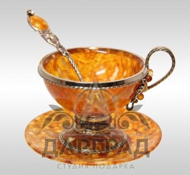 Чайная пара из янтаря «Виноград»