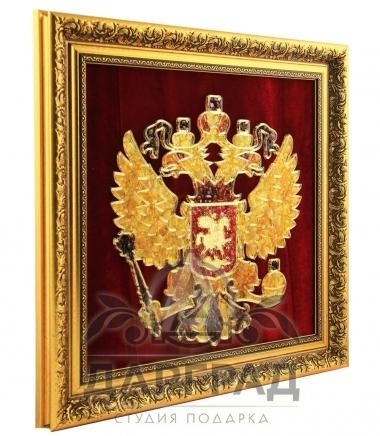 Панно из янтаря Герб РФ