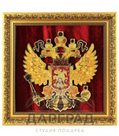 Янтарное панно «Герб России»