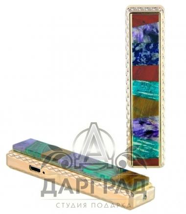 Зажигалка «Мозаика» (USB) из натурального камня