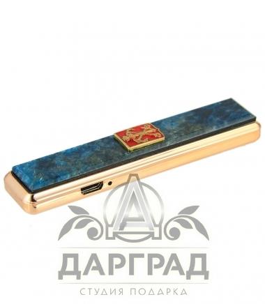 электронная Зажигалка с накладкой из апатита «Петербург»