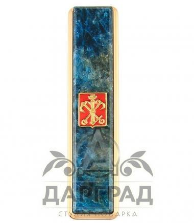 Зажигалка с накладкой из апатита «Петербург»
